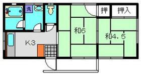 加藤ハイツ2階Fの間取り画像