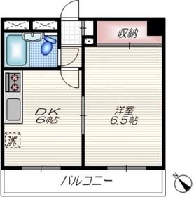 大井町ハウス9階Fの間取り画像