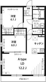 武蔵小杉駅 徒歩34分3階Fの間取り画像