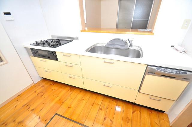 大蓮東1-22-30 貸家 システムキッチンは広々と使えて、お料理が楽しくなります。