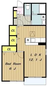 ベルフォーレ1階Fの間取り画像