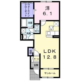 ディリジェントシックス A1階Fの間取り画像