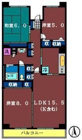 テレパレス船橋三咲 AB棟5階Fの間取り画像
