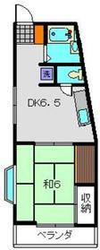 K2フラット2階Fの間取り画像
