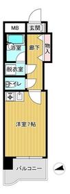ライオンズマンション熊本中央4階Fの間取り画像