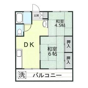 名志窪第1マンション4階Fの間取り画像