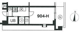 スカイコート中野第29階Fの間取り画像