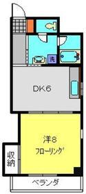 さちが丘佐藤ビル3階Fの間取り画像