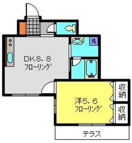 アルヴィータ1階Fの間取り画像