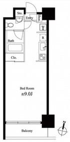 グレンパーク秋葉原イースト11階Fの間取り画像