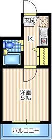 コート・オダマキ4階Fの間取り画像