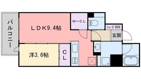 RJRクオーレ六本松10階Fの間取り画像