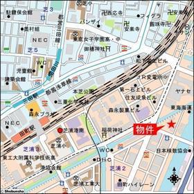 田町駅 徒歩9分案内図