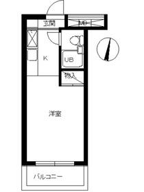 スカイコート宮崎台第21階Fの間取り画像