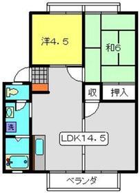 今宿モールサイドⅡ2階Fの間取り画像