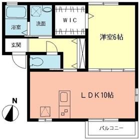 シャトー広野台1階Fの間取り画像