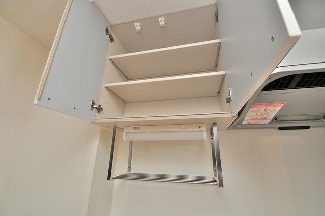 エクレール上小阪 キッチン棚も付いていて食器収納も困りませんね。