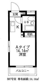 ピアニシオンブローニュクレスト3階Fの間取り画像