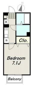 クレールメゾン11階Fの間取り画像