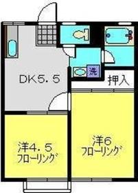 柴田ガーデンハイツE棟1階Fの間取り画像