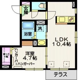 荏原中延駅 徒歩3分1階Fの間取り画像