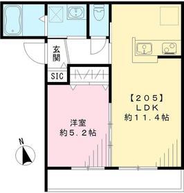 SAKURA Terrace2階Fの間取り画像