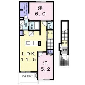 コンフォート・アライブB2階Fの間取り画像