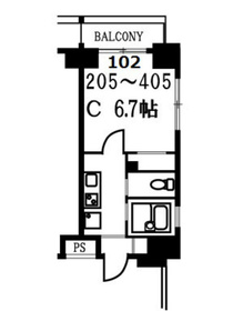 スカイコート月島1階Fの間取り画像