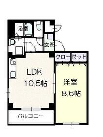 リバーサイドハウス4階Fの間取り画像