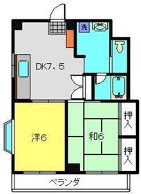新丸子駅 徒歩23分2階Fの間取り画像