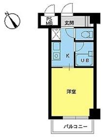 スカイコート新宿第84階Fの間取り画像