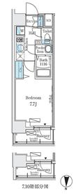 ディームス東陽町Ⅱ7階Fの間取り画像