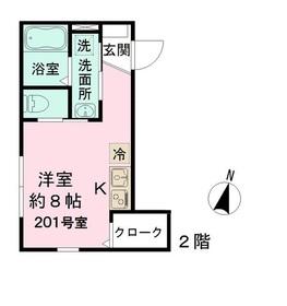 LAGO・TEKAPO2階Fの間取り画像