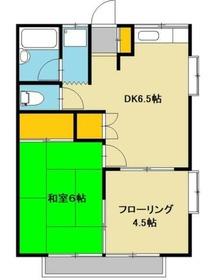 ワカバハイツ2階Fの間取り画像