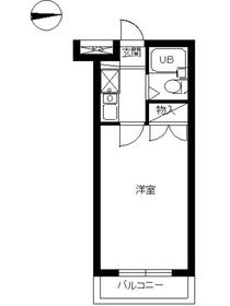 スカイコート多摩川第22階Fの間取り画像