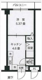 リーヴェルステージ横浜西3階Fの間取り画像