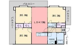 グラン・ブルー和気2階Fの間取り画像