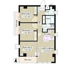 スピティ目黒2階Fの間取り画像