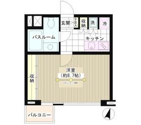 広尾駅 徒歩1分3階Fの間取り画像