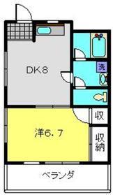 荻野ビル5階Fの間取り画像