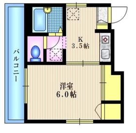 ターナ三軒茶屋3階Fの間取り画像