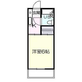 霞ヶ丘サンハイツ1階Fの間取り画像