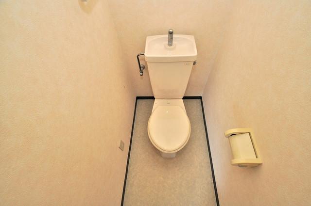 プラムガーデンハイツ スタンダードなトイレは清潔感があって、リラックス出来ます。