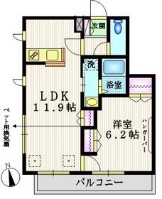 大森駅 徒歩14分2階Fの間取り画像