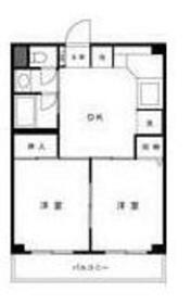 梶ヶ⾕リベール(カジガヤリベール)2階Fの間取り画像