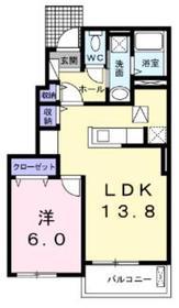 セレノブリーゼA1階Fの間取り画像
