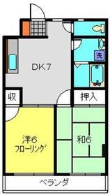 第二浜屋マンション3階Fの間取り画像