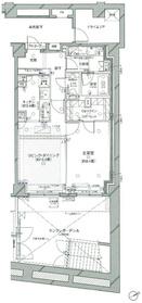 ピアース虎ノ門地下1階Fの間取り画像