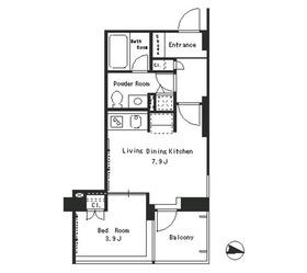 パークアクシス西麻布ステージ6階Fの間取り画像