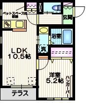 Maison Haneda ペット共生1階Fの間取り画像